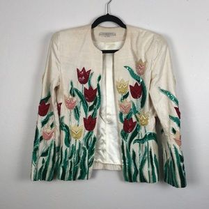 Vintage Victor Costa Beautiful Beaded Jacketg